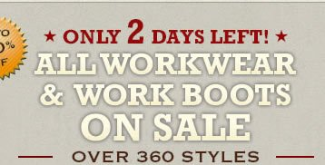 All Workwear and Work Boots on Sale