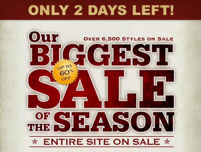 Biggest Sale of the Season