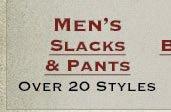 Shop All Mens Slacks and Pants