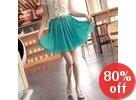 Accordion-Pleat A-Line Skirt
