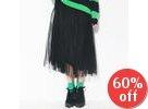 Tulle Overlaid Long Skirt
