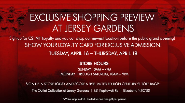 Sign up for VIP Loyalty and you can shop our newest location before the public grand opening