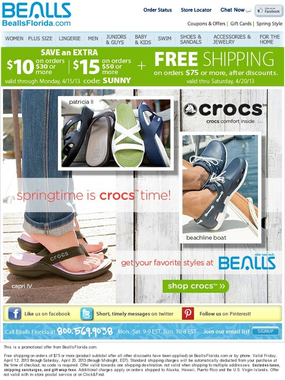 Bealls Florida: New Crocs in New Colors