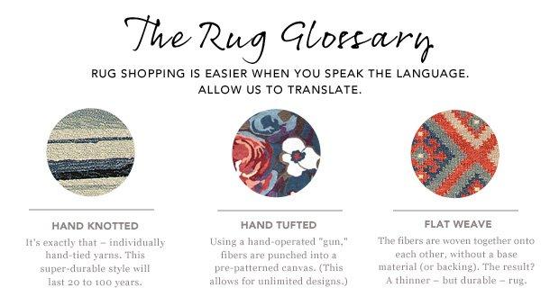 The Rug Glossary.