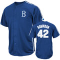 Jackie Robinson Brooklyn Dodgers Majestic Cooperstown Crosstown Rivalry Player Jersey