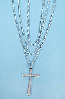 Triple Chain Cross Necklace $12