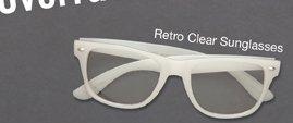 RETRO CLEAR GLASSES