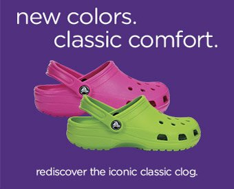 new colors. classic comfort. rediscover the iconic classic clog.