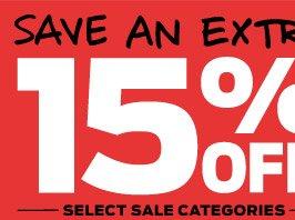 Save An Extra 15% ›