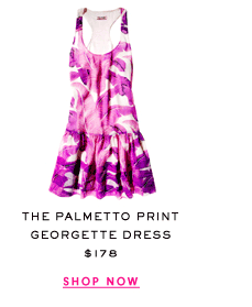The Palmetto Print Georgette Dress at $178. Shop Now.