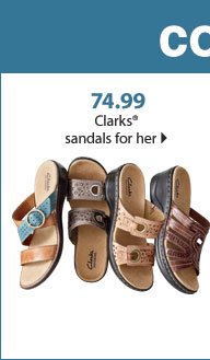 Colorful casual 74.99 Clarks® sandals for her