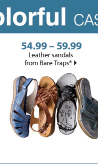 54.99 - 59.99 Leather sandals from Bare Traps®