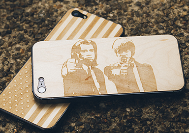 Shop All New: Etched Wood Phone Cases