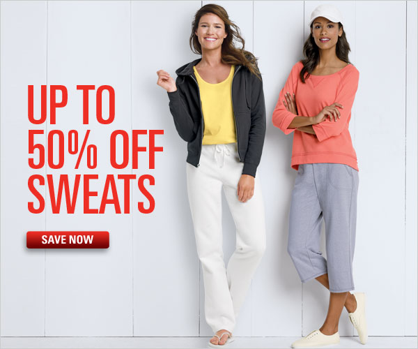 Up to 50% off Sweats