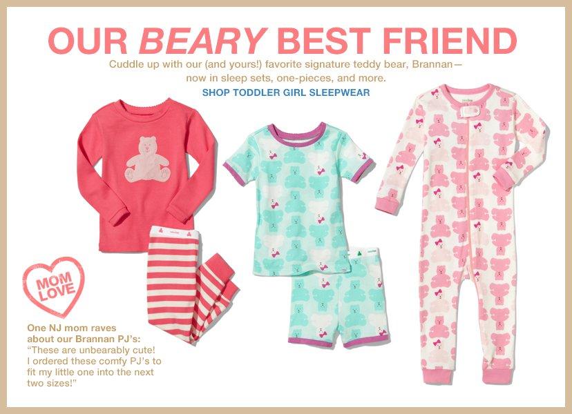OUR BEARY BEST FRIEND | SHOP TODDLER GIRL SLEEPWEAR
