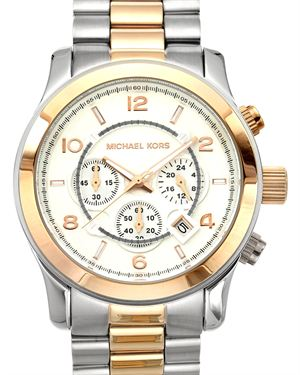 Michael Kors MK8176 Runway Two Tone Chronograph Stainless Steel Men's Watch