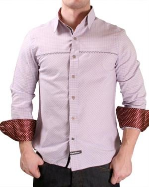 English Laundry Square Print Button-Up Shirt