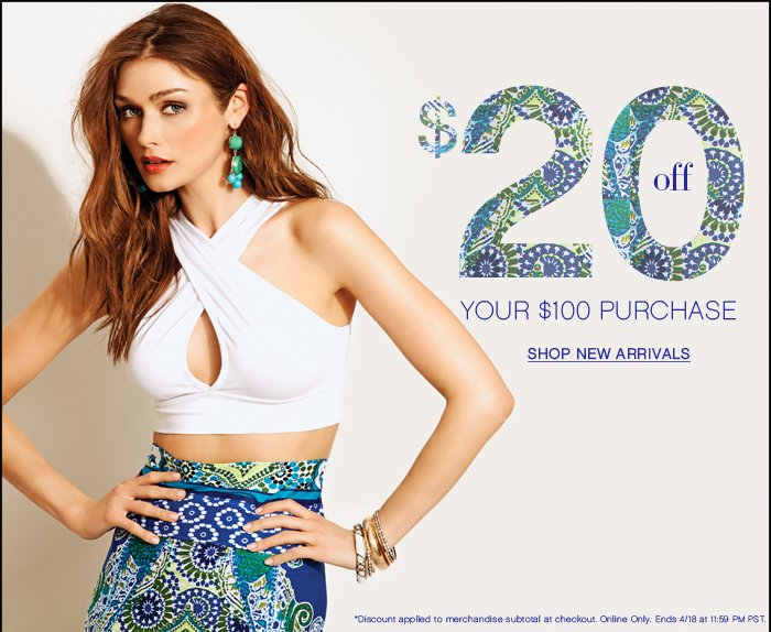 Take $20 Off Your Next Purchase