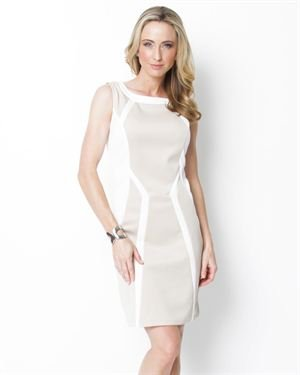 Voir Voir Two-Tone Sleeveless Dress