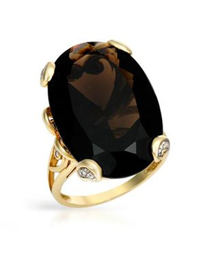 Ladies Topaz Ring Designed In 10K Yellow Gold