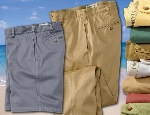 Surfwashed - Our breathable, pure cotton Surfwashed Chinos and Shorts are available in new colors, just in time for the arrival of warm weather. Get ready for summer gatherings with new pants and shorts from Orvis.