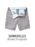 Brown Gingham Summervilles