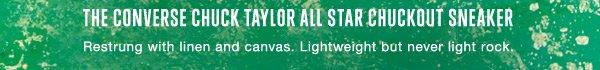 THE CONVERSE CHUCK TAYLOR ALL STAR CHUCKOUT SNEAKER | Restrung with linen and canvas. Lightweight but never light rock.