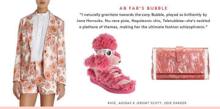 The unexpected style icons: Shop Susie Bubble's looks inspired by Bubble from Ab Fab, Claudia Kishi from the Babysitter's Club, and author Nancy Mitford.