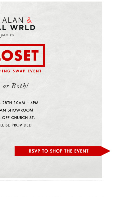 RSVP to Shop the Event