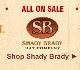 All Shady Brady Hats on Sale