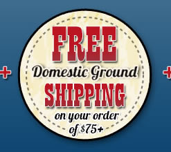 Free Domestic Ground Shipping