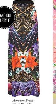 Amazon Print Maxi Skirt