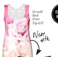 Cornelli Back Print Top