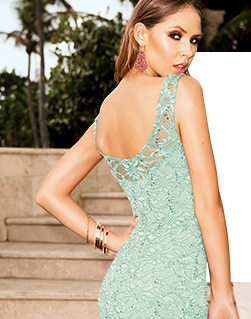 Lace Sequin Bodycon Dress
