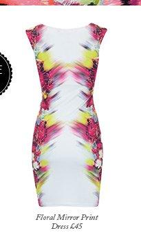 Floral Mirror Print Dress
