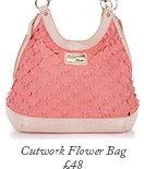 Cutwork Flower Bag
