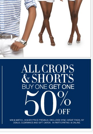 All Tops and Sweaters $10 and up + All Crops & Shorts are Buy One Get One 50% Off! Shop Now!