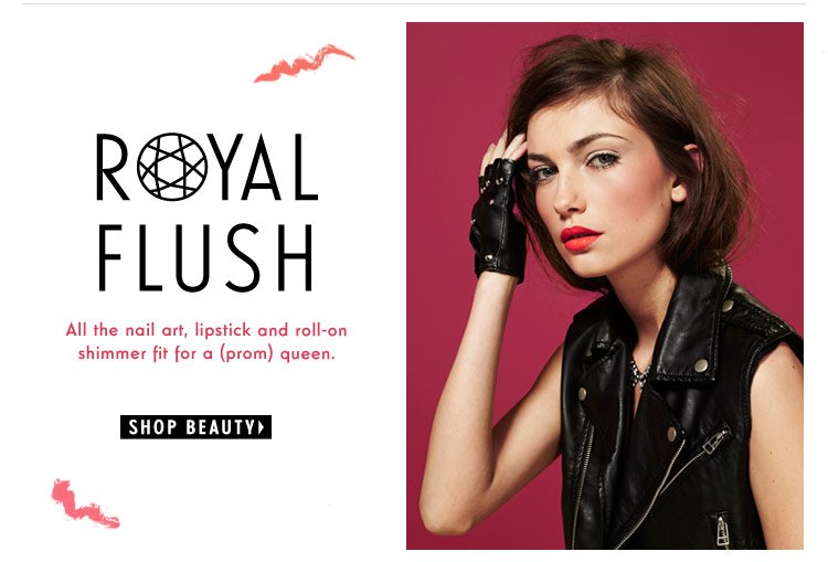 Royal Flush: All the nail art, lipstick and roll-on shimmer fit for a prom queen