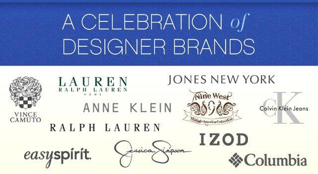 A Celebration of Designer Brands.