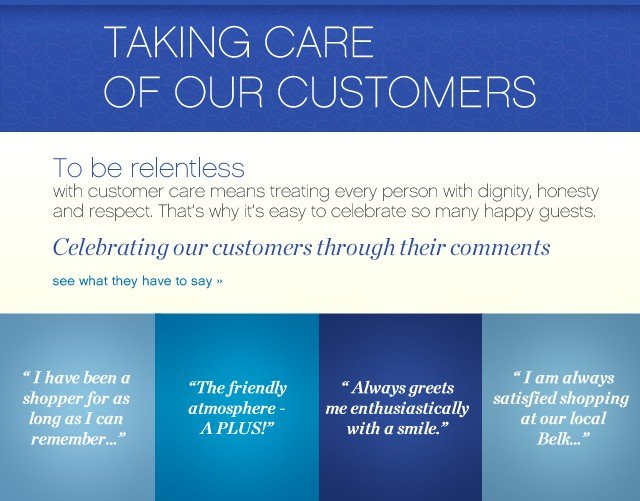 Taking Care of our customers. Celebrating our customers through their comments. See what they have to say.