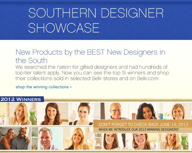 Southern Designer Showcase. Shop the winning collections.