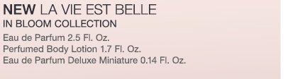 NEW LA VIE EST BELLE IN BLOOM COLLECTION | Eau de Parfum 2.5 Fl. Oz. | Perfumed Body Lotion 1.7 Fl. Oz. | Eau de Parfum Deluxe Miniature 0.14 Fl. Oz.