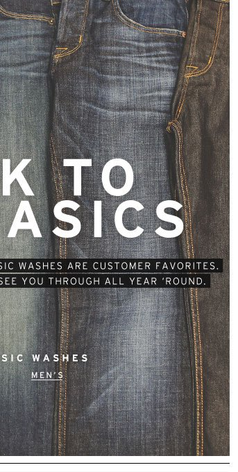 Shop Classic Washes - Men's