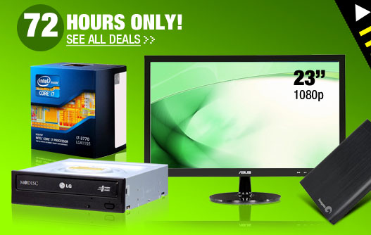 72 HOURS ONLY! See All Deals