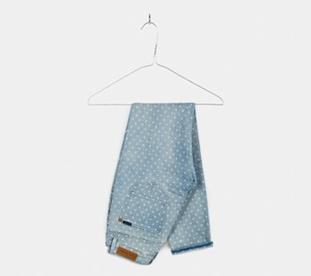 Light Wash Polka Dot Jeans