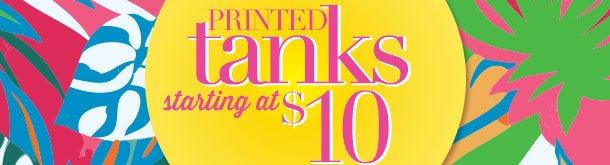 Printed tanks! Starting at $10! SHOP NOW!