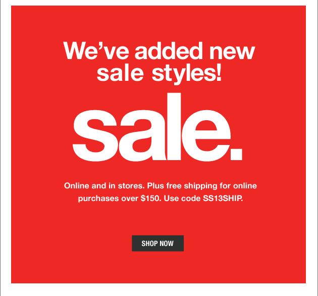 Sale. shop now