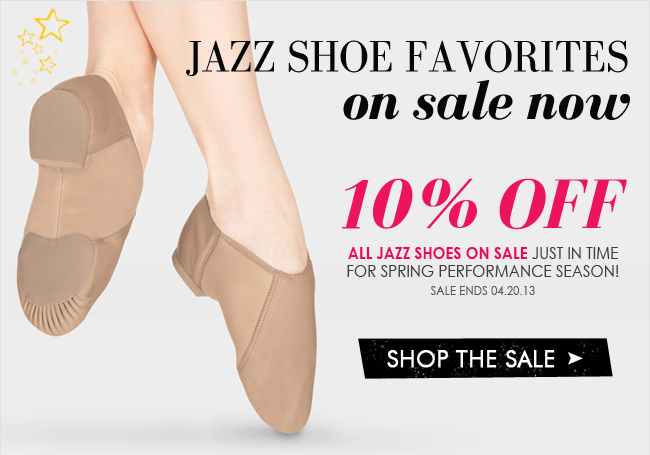 All jazz shoes on sale now.