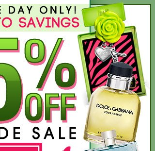 ONLINE ONE DAY ONLY! SPRING INTO SAVINGS 25% OFF SITE WIDE SALE USE CODE:APR25