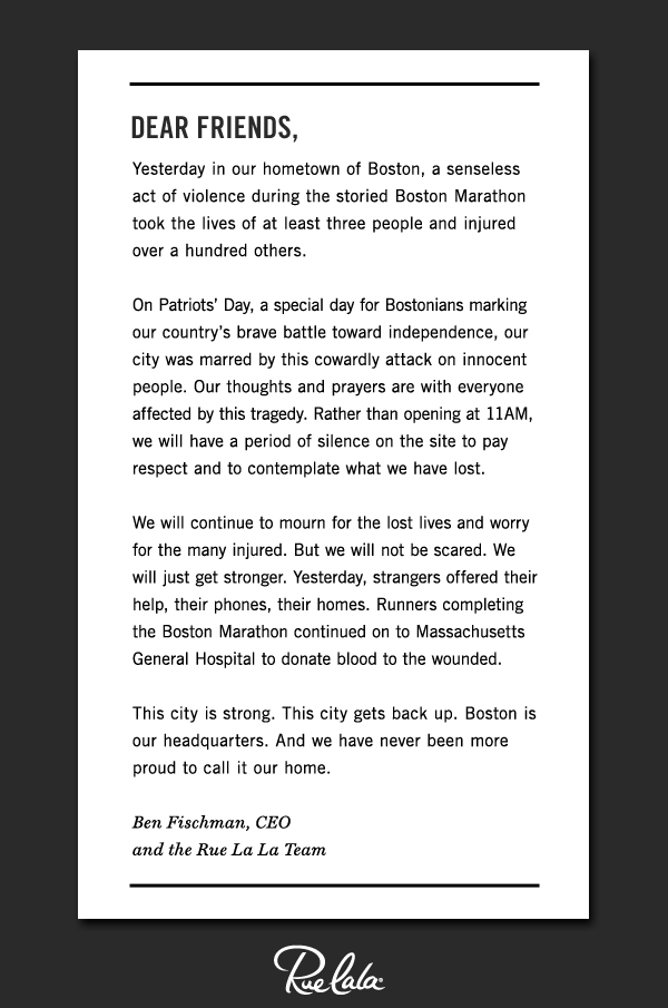 We honor Boston.